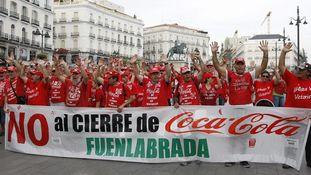 Los trabajadores despedidos temen que Coca-Cola convierta la planta de Fuenlabrada en un almacén