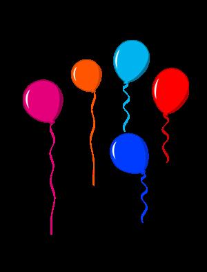 Dessins de ballons d 39 anniversaire - Dessin de ballon ...
