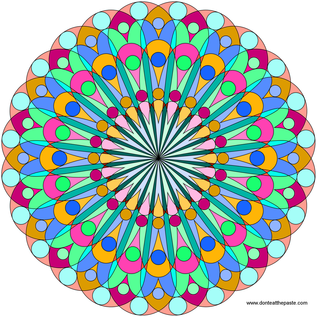 mandala- blank version available to color