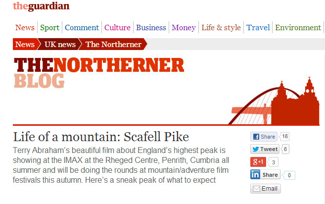 Life of a Mountain Scafell Pike The Guardian