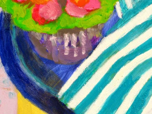 A cupcake oil painting done in the fauve impressionist impasto style of Vincent Van Gogh