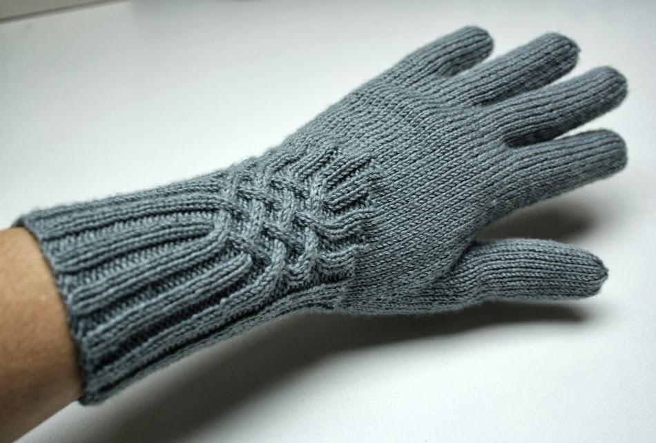 Minimille et ses dix doigts gants gris pour l 39 hiver - Tricot aiguilles circulaires magic loop ...