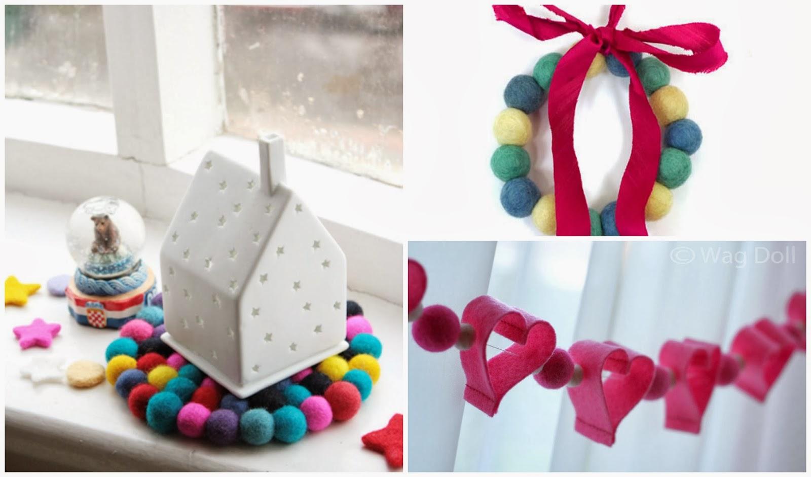Klaudisseny dise ar cosas bonitas con bolas de fieltro - Cosas de fieltro ...