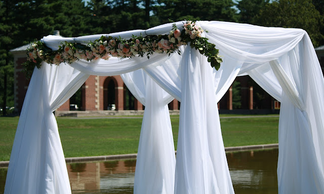 Saratoga Hall of Springs Flower Chuppah - Splendid Stems Event Florals