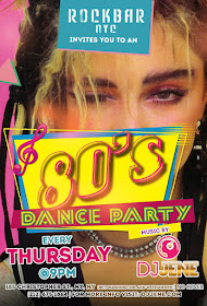 NYC: 80s party every Thursday @ 9pm