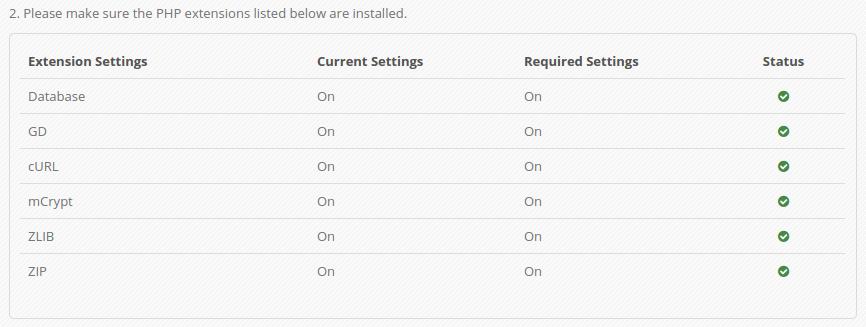 cek konfigurasi server OK