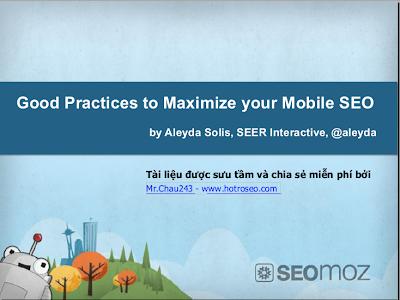 Tài liệu SEO Mobile của SEOMoz