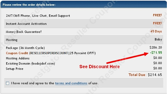 hostgator reseller coupon