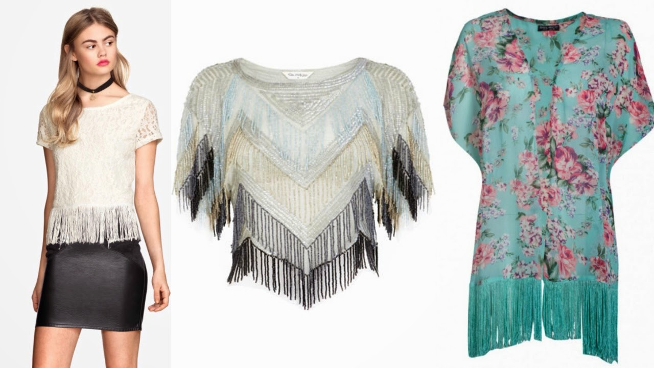 Inspire Magazine Online - UK Fashion, Beauty & Lifestyle blog | Fashion // Popular styles this Spring; Inspire Magazine; Inspire Magazine Online; Tassles; Fringe; H&M; River Island; Select