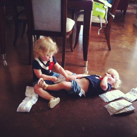 Three Little Birds: Not your average diaper change...