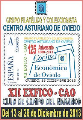 Cartel de la XII Exposición de Coleccionismo en el Centro Asturiano de Oviedo