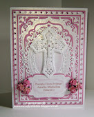 Pink Christening Card
