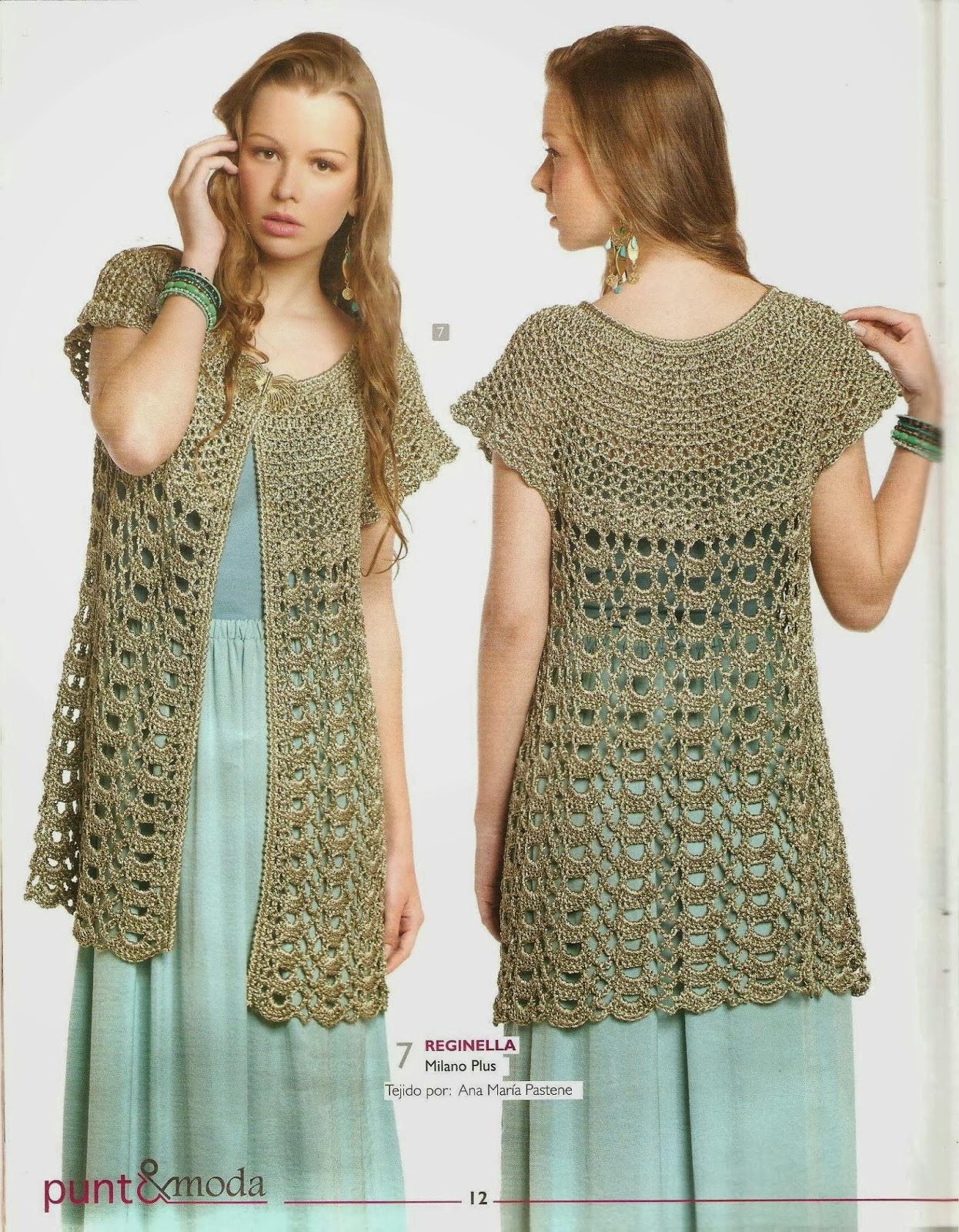 Moda Crochet Patterns : Ringrazio vivamente Nana che mi ha fornito la spiegazione in italiano!