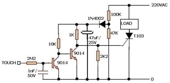 pengendaii instalasi tenaga listrik    sensor sentuhan