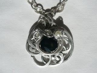 Gioielli wire, filo di alluminio, ciondolo - Aspettami; Umetnički nakit, privezak - Čekaj me