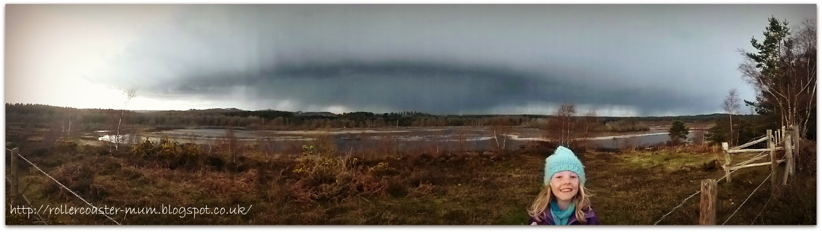 Rain clouds on a country walk, Longmoor Ranges