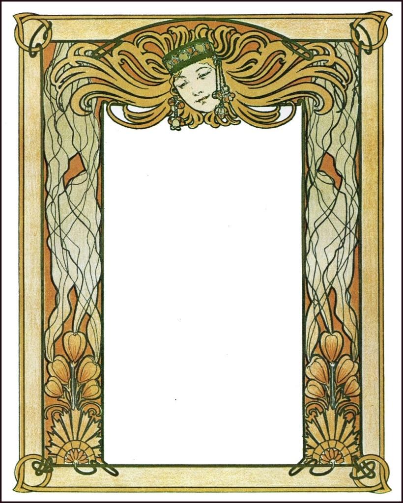The graffical muse 4 art nouveau frames - Art deco and art nouveau ...