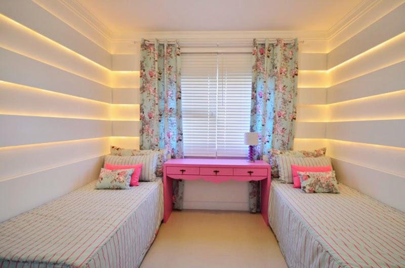 Cmo colocar dos camas en un dormitorio para nias - Dormitorios infantiles dos camas ...