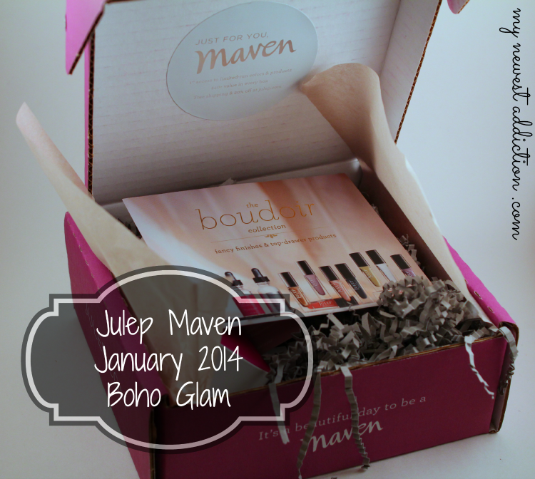 Julep Maven January 2014 Boho Glam Hannah Noelle TaDa Quick Dry Drops Review Swatch Promo Code