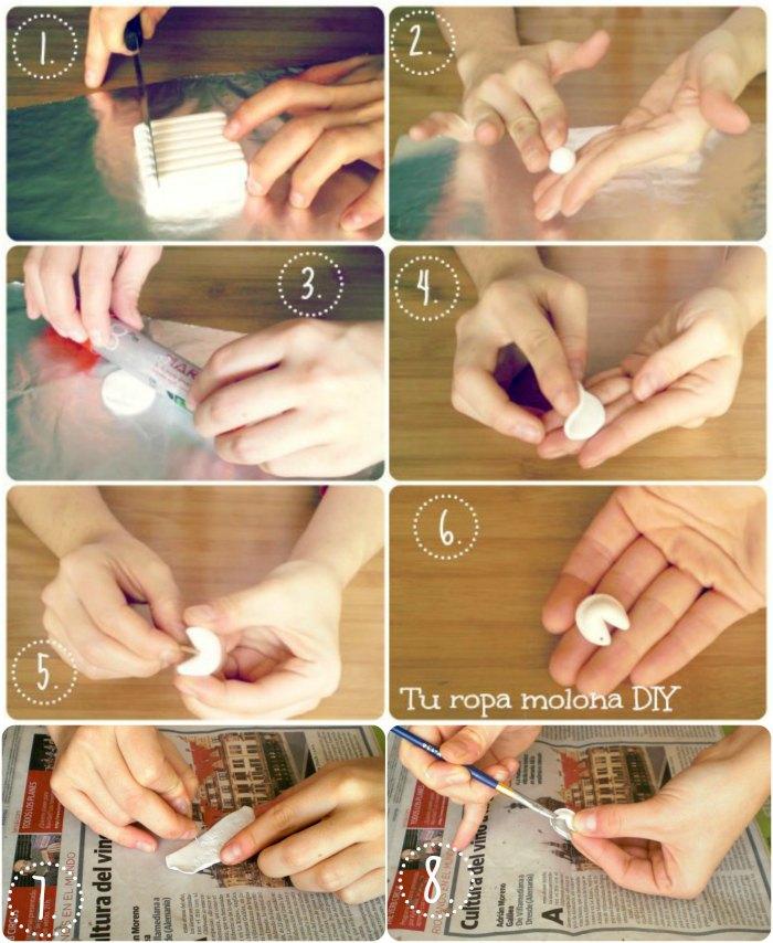 DIY: cómo hacer un colgante galleta de la fortuna