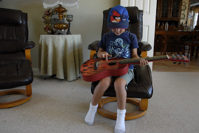 guitar and 5 year old grandson