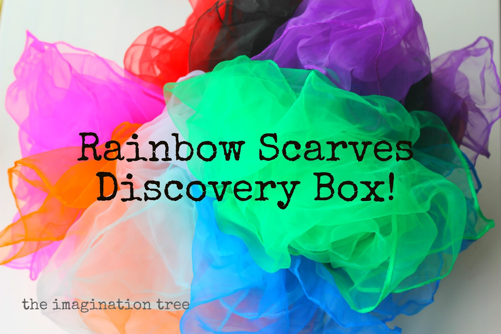 Discovery Box 14: Rainbow Scarves - The Imagination Tree