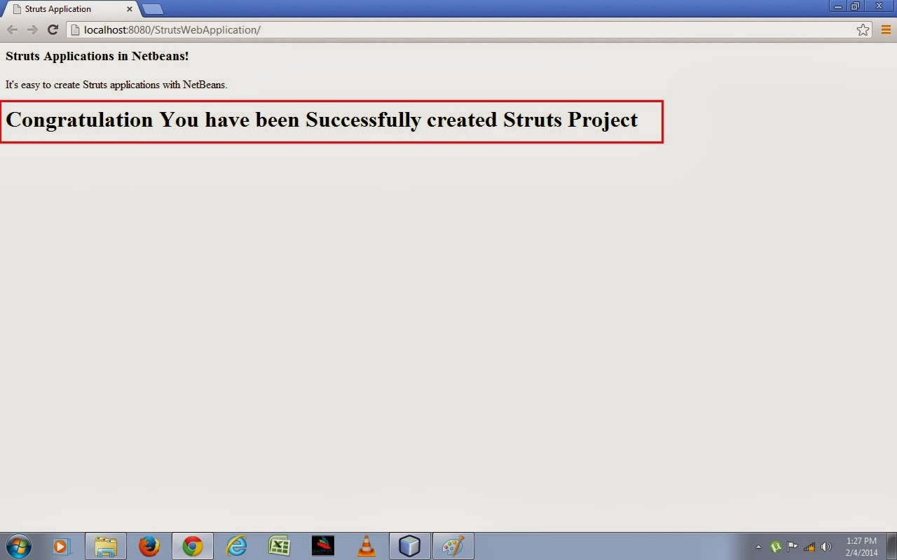 Find Java Struts tutorial to learn how to create Struts Java ee 7 web application project in NetBeans IDE and GlassFish Web application Server. Learn Java web application development using Struts Framework. Netbeans IDE Tutorial, Struts tutorial, Java Server, Java EE 7 tutorials, Struts framework tutorial, Strut, java framework, java struts, struts java, java web action, Struts java web application development, Java IDE, Java development softwares