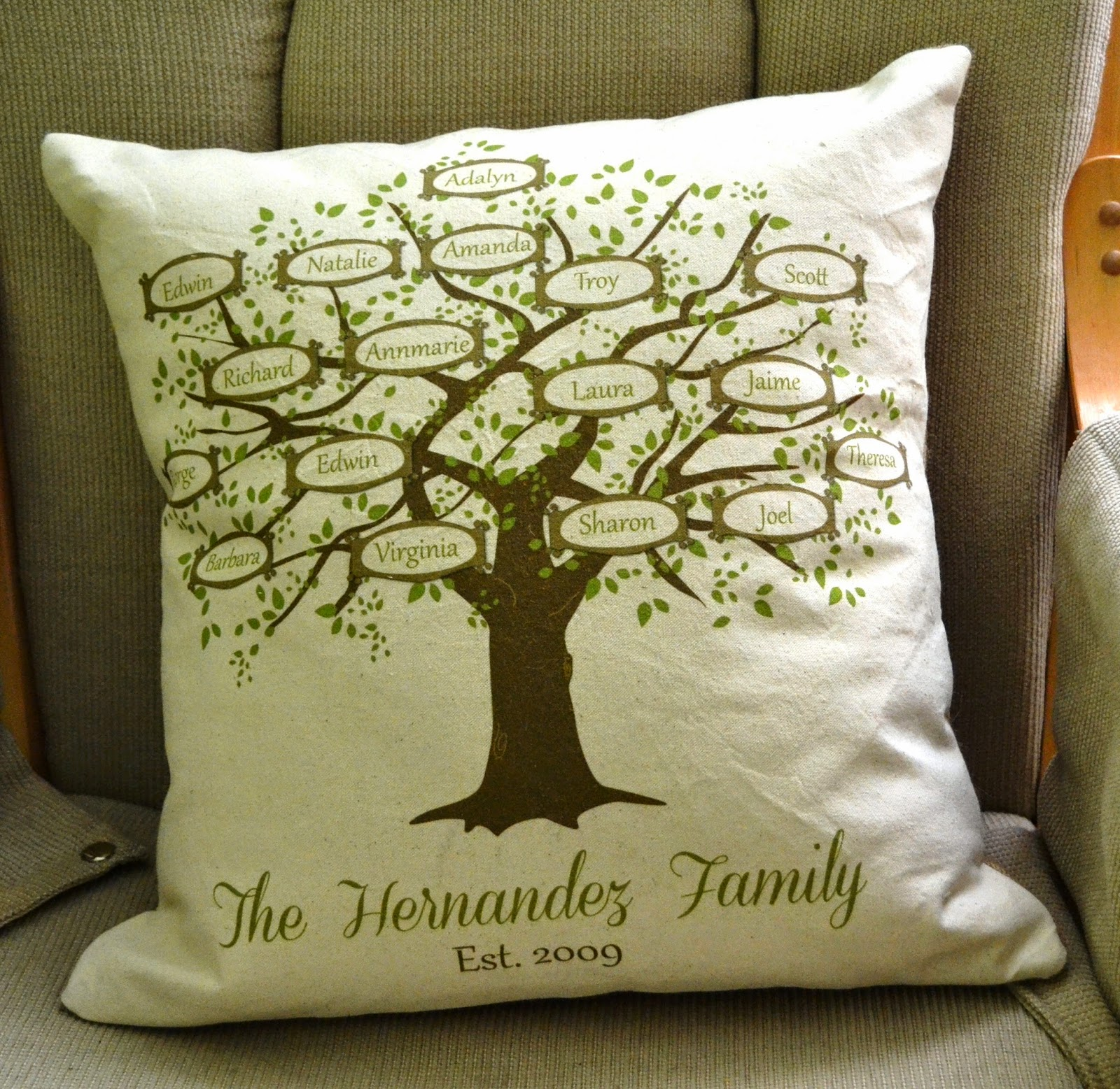 Simply French Market Family Tree Pillow