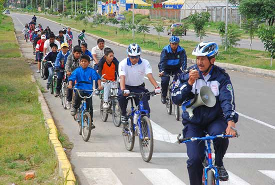El domingo paseo en bicicleta por el Día del Peatón en Tarija