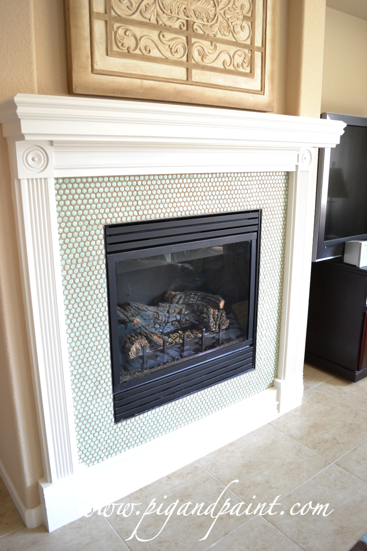 Pig and Paint: Fireplace: Grout Commitment