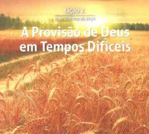 4º Trimestre: O Deus de toda provisão