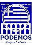 Concentración Segovia con Grecia