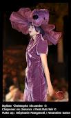 Collection Orgueil chapeaux en cheveux violet & miroir