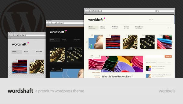 Mojo themes wordpress Wordshaft Premium theme