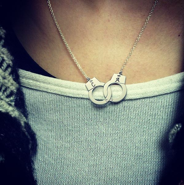 Personalized Handcuff Necklace