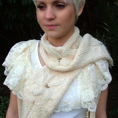mini capelet scarf