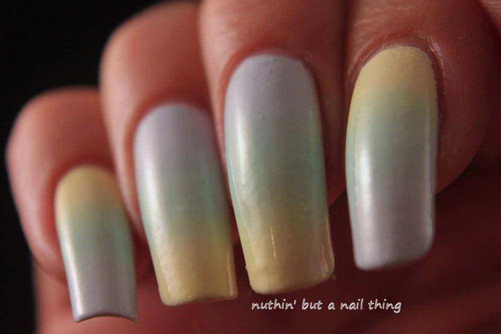 pastel gradient nail art