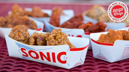 BOGO FREE BONELESS WINGS EVERY MONDAY NIGHT @ SONICS