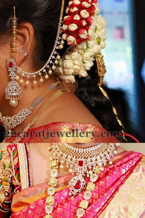Diamond Jhumkas and Earchains