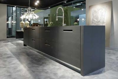 modern kitchen design with gray floor