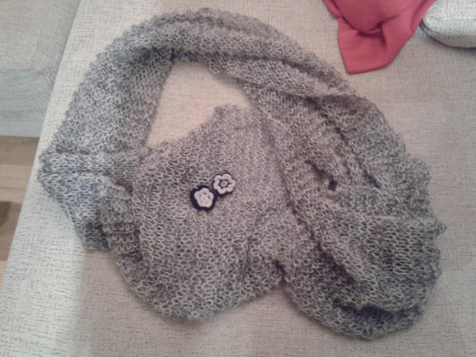 ... cumplida, seguiré haciendo todas las bufandas que me pidan encantada