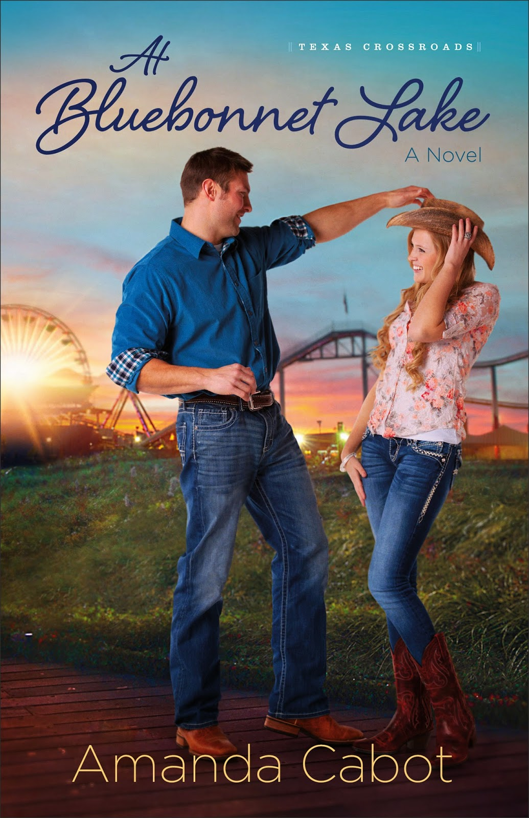 book review of At Bluebonnet Lake by Amanda Cabot (Revell) by papertapepins