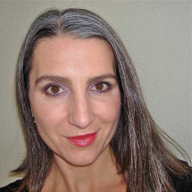 gray hair strong makeup &