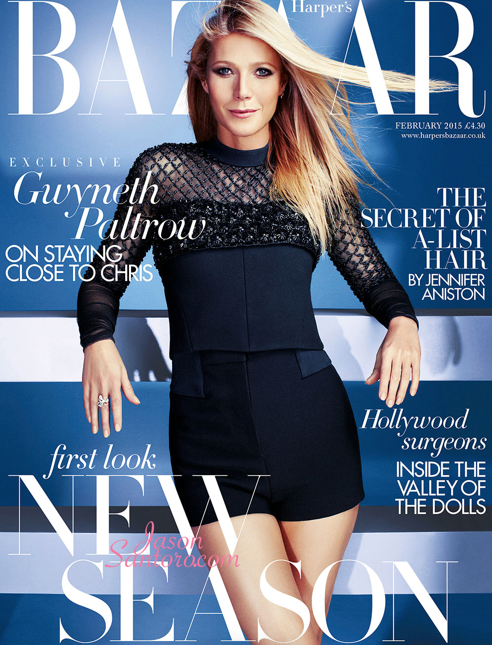 Gwyneth Paltrow covers Harpers Bazaar February 2015 issue