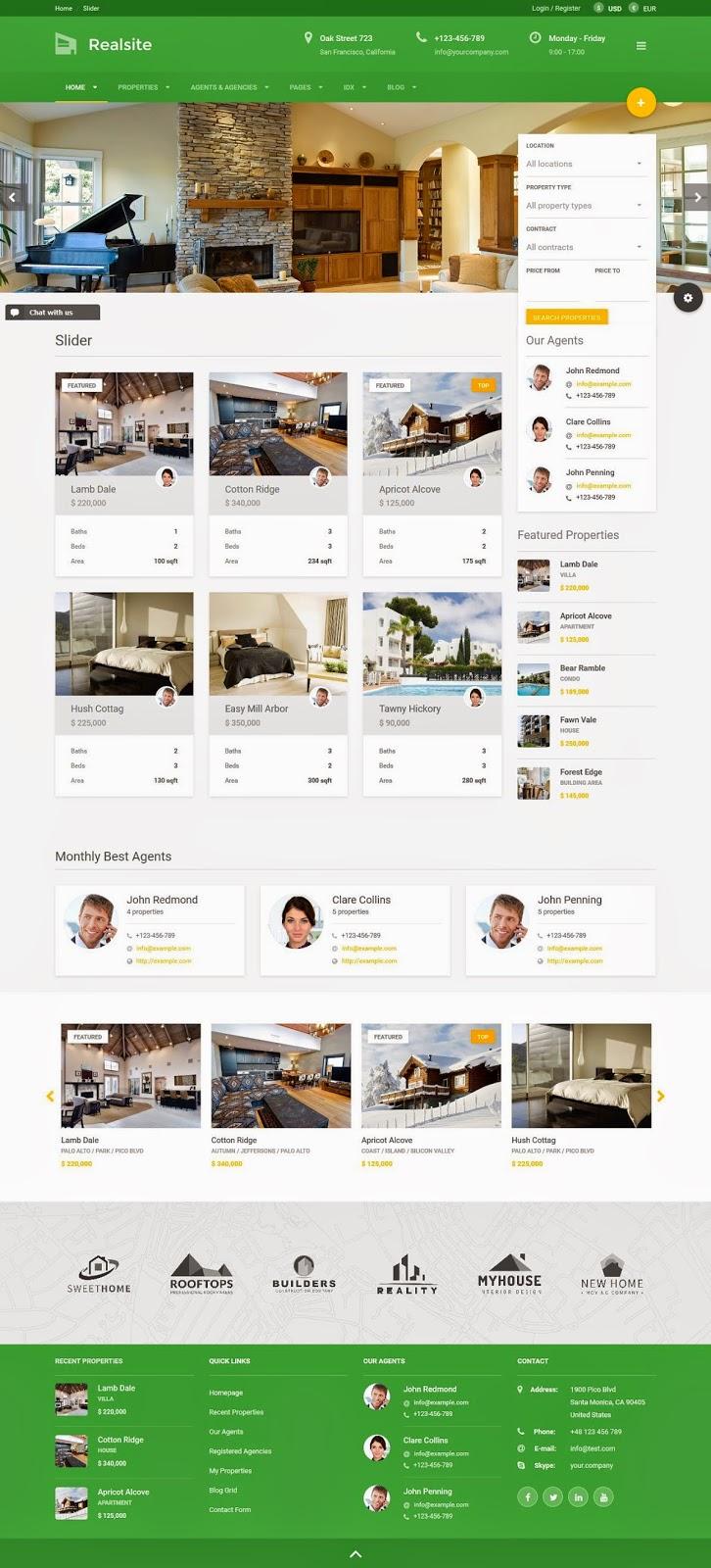 Advanced Features Real Estate WordPress Theme 2015
