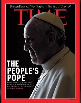 papa francisco con cuernos rojos en revista