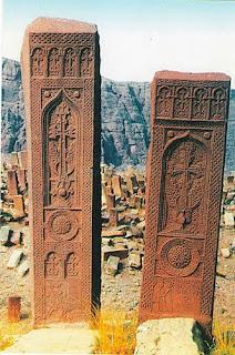 az azeri genocide khachkar cross-stone jugha nakhichevan