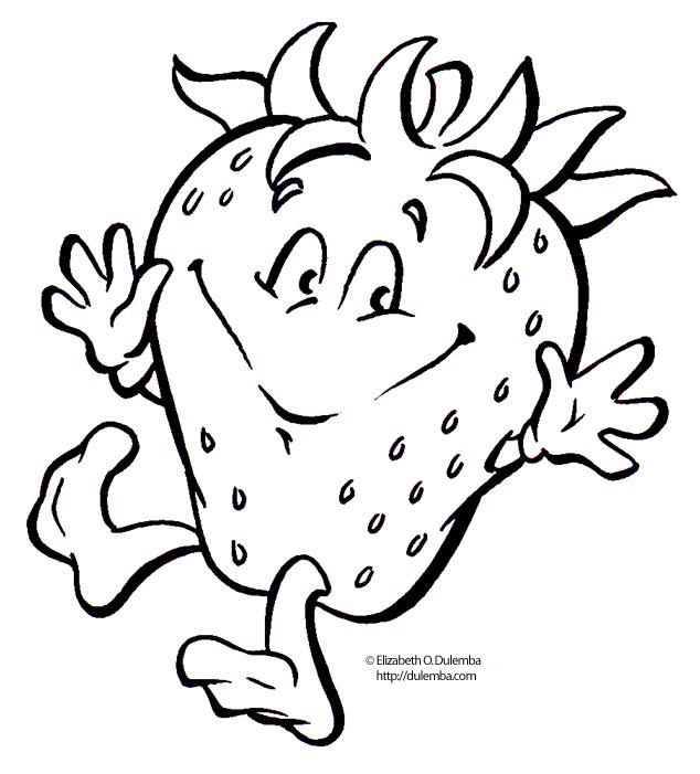 strawberry coloring pages for kids - photo#10