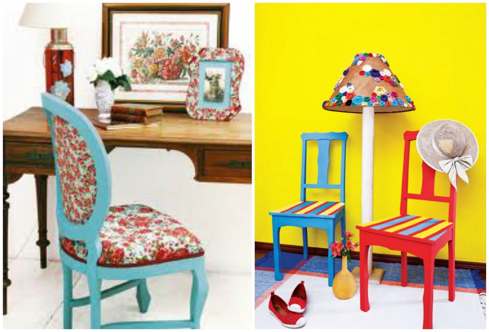 : Reformando Cadeiras de Madeira e de Plástico e Peças em Patchwork #C3B708 1600x1088