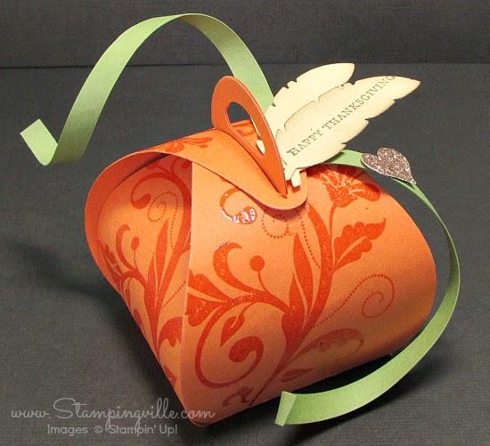 Stampin' Up! Curvy Keepsake Box embellished for Thanksgiving